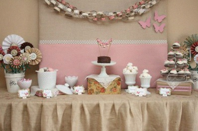 sweet table papillons