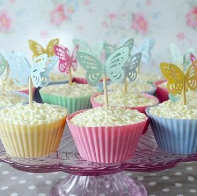 cupcake papillons