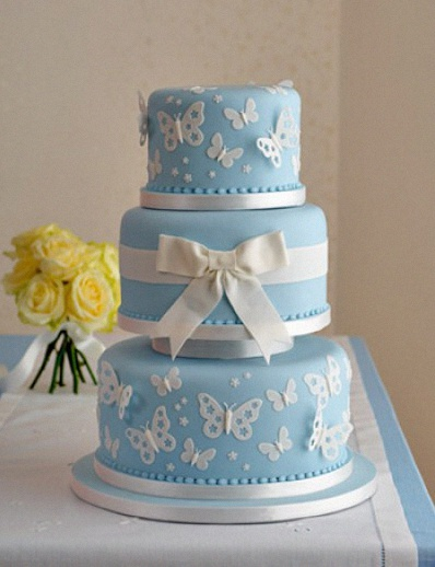 blue wedding cakes pictures un bapt 234 me sur le th 232 me des papillons 12020
