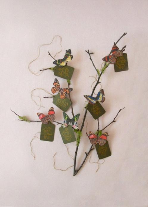 plan de table papillons
