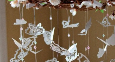 Un bapt me sur le th me des papillons - Decoration de table theme papillon ...