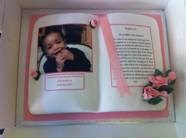 gâteau photo baptême
