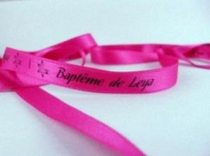 Id e d co des rubans et bracelets en satin personnalis s pour un bapt me - Idee pour un bapteme ...