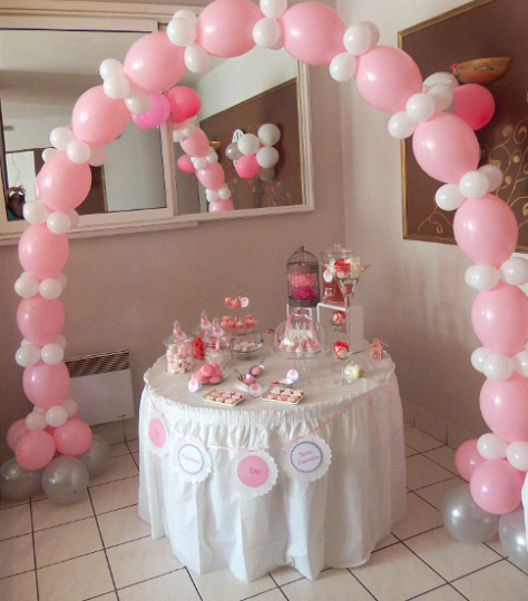 Le bapt me traditionnel de ta ssa gabriela en rose et blanc - Idee deco table bapteme ...