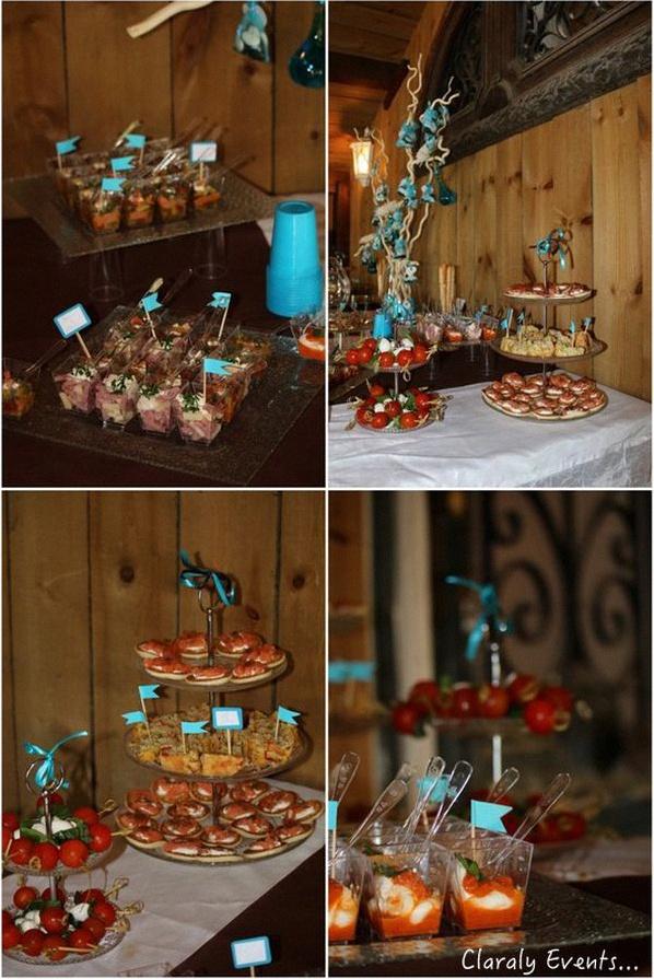 Le bapt me d 39 antoine en bleu et chocolat for Decoration jardin bapteme