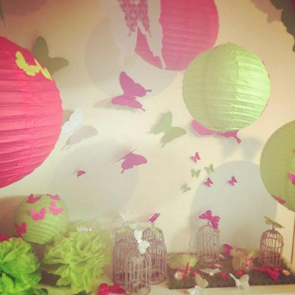 La d coration de bapt me d 39 alicia sur le th me des papillons - Decoration de table theme papillon ...