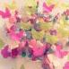 La décoration de baptême d'Alicia sur le thème des papillons