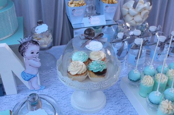 décoration bapteme bleu