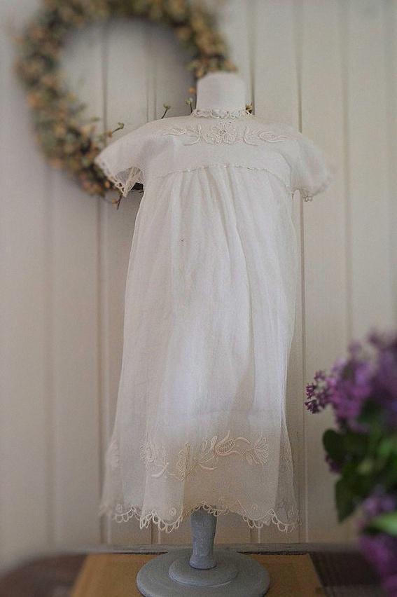 robe bapteme ancienne traditionnelle vintage dentelle