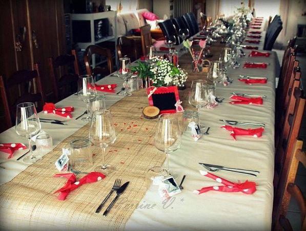 décoration de table foret enchantée