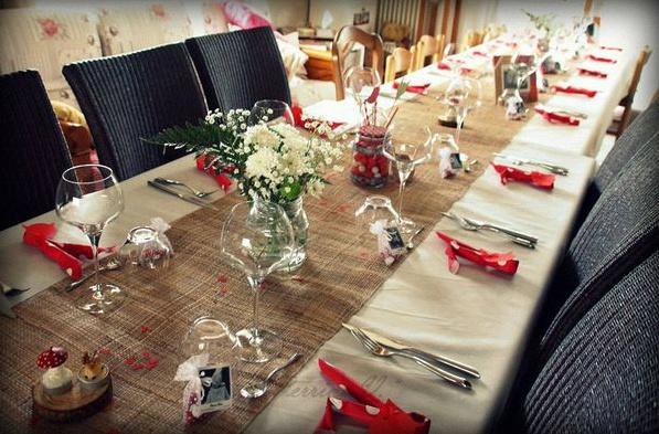 décoration de table bapteme civil