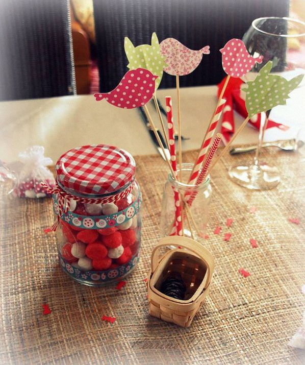 décoration de table petit chaperon rouge
