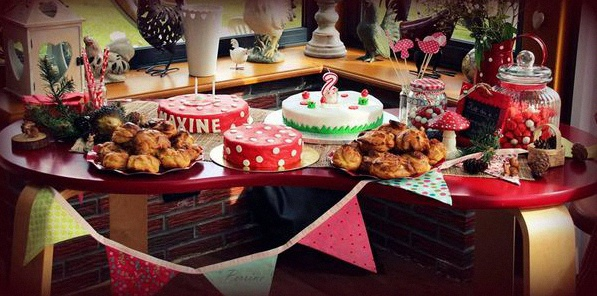 sweet table petit chaperon rouge