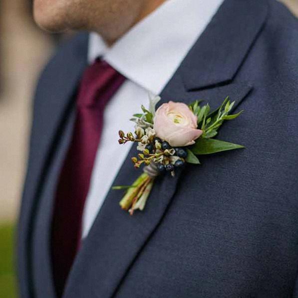 boutonniere pour bapteme mariage