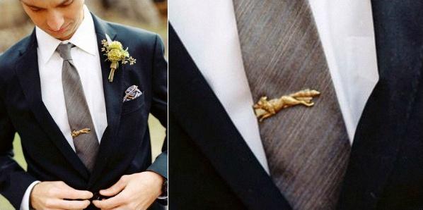 pince à cravate originale bapteme mariage