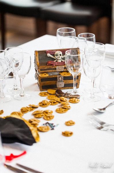 bapteme thème pirates décoration de table