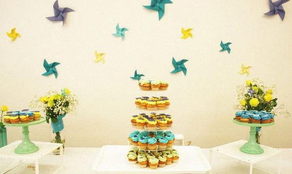 cupcakes bapteme moulins à vent