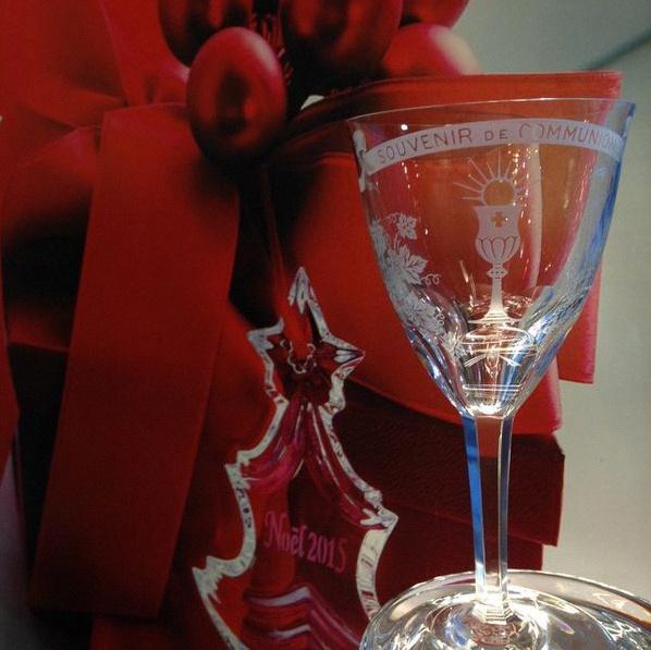 verre en cristal personnalisé mariage