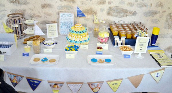 sweet table bapteme marin nautique décoration bapteme marin petit bateau
