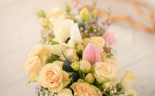 Le baptême pastel et aquarelle d'Anaé sur le thème des Fleurs