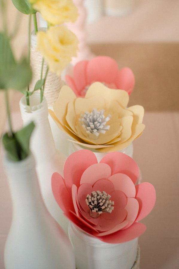 bapteme fleurs pastel