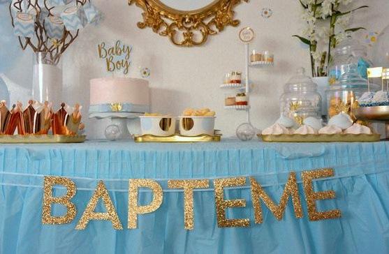 Quelle d coration pour un bapt me civil une sweet table - Decoration pour un bapteme ...