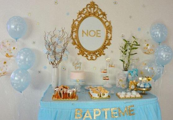 Quelle décoration pour un baptême civil ? Une sweet table de baptême ...