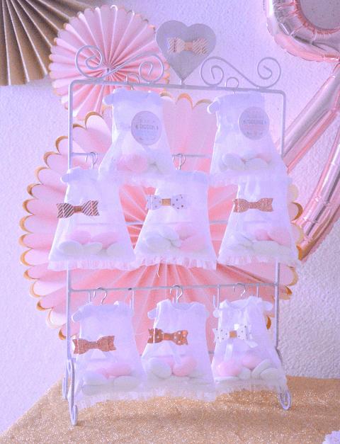 décoration sweet table baptême rose gold rose cuivré