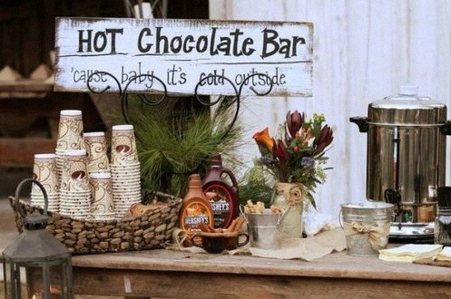 bar à chocolat chaud