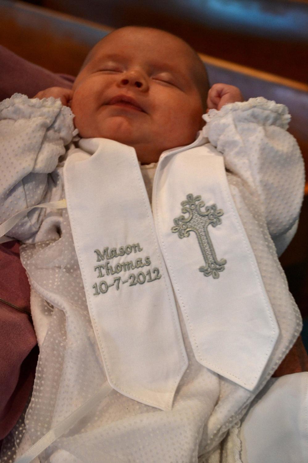 6686180f49e1 6 étoles ou écharpes de baptême personnalisées