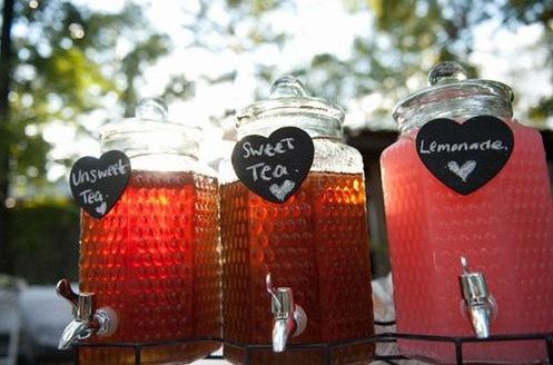 sweet tea mariage buffet cocktail