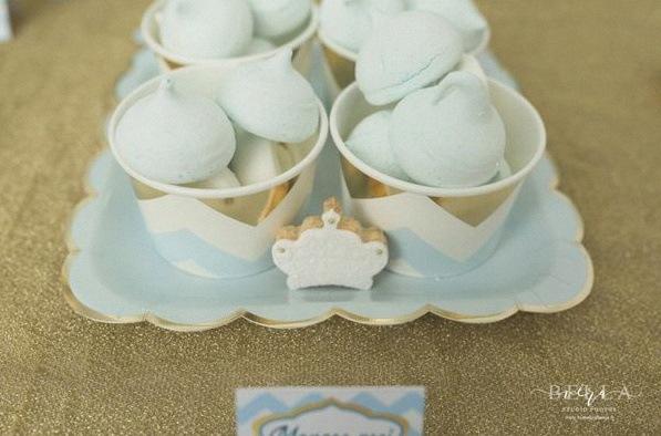 meringues bapteme petit prince sweet table décoration prince