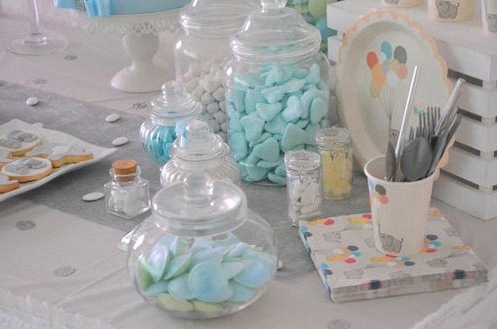 décoration bapteme laique sweet table elephant