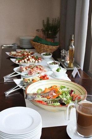 buffet de bapteme maison menu