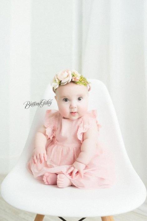couronne de fleurs fraîches bébé bapteme