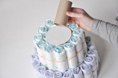 gateau de couches bapteme diaper cake DIY