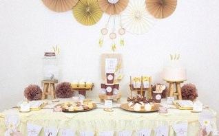 La sweet table du baptême boho chic de Camille