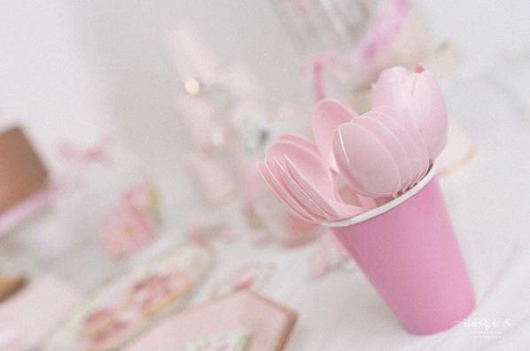 bapteme liberty rose gold civil sweet table décoration