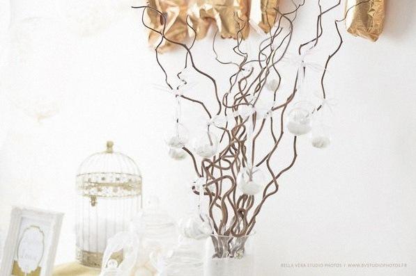 arbre à dragees blanc bapteme