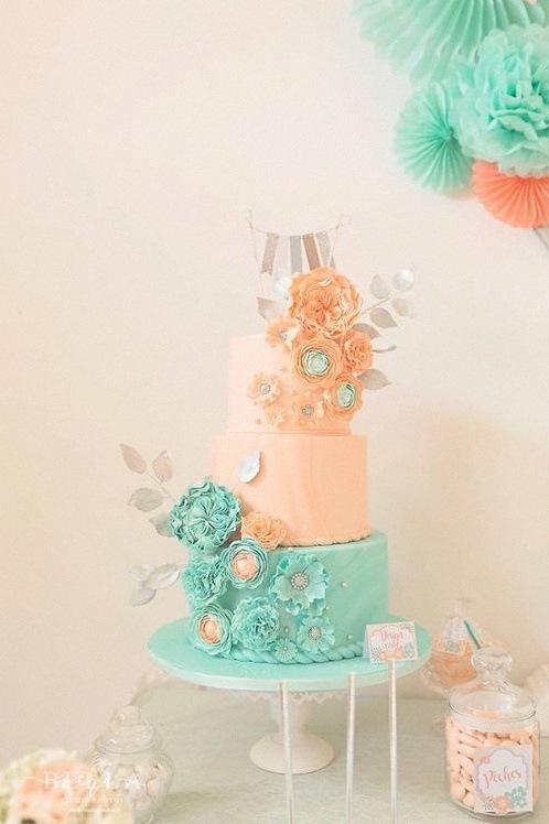 design cake fleurs gateau de bapteme