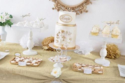design cake blanc gateau de bapteme