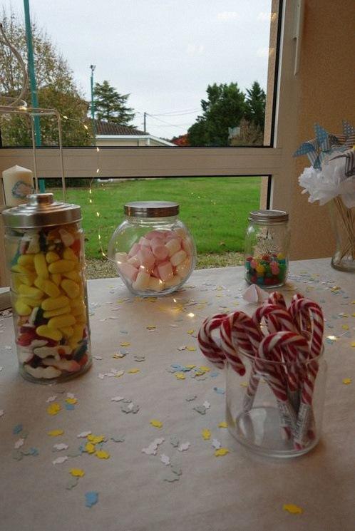 baptême Moulin à vent bar à bonbons
