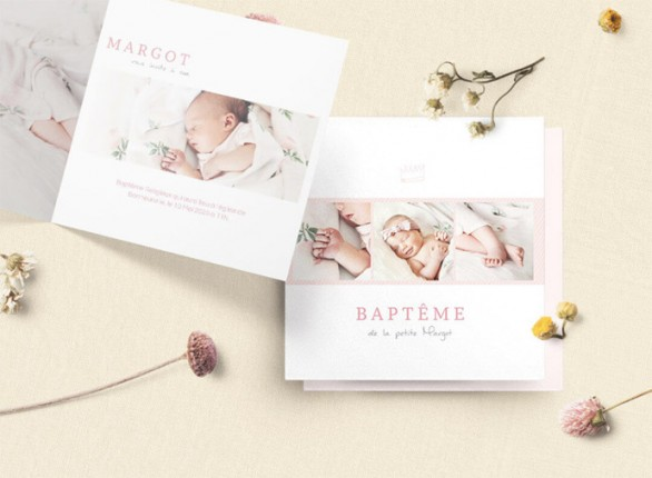 invitation bapteme