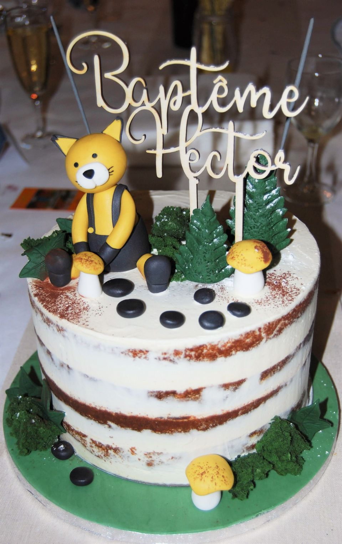 cake topper bapteme